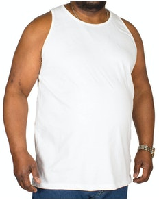 Bigdude Plain Vest White