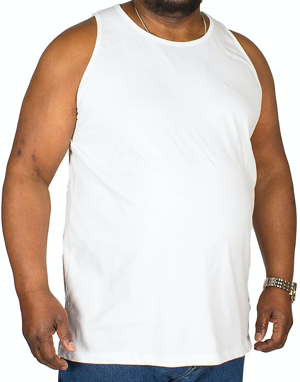 Bigdude Plain Vest White Tall
