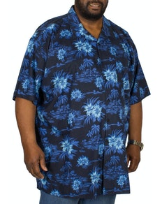 Espionage Revere Collar Short Sleeve Shirt Blue