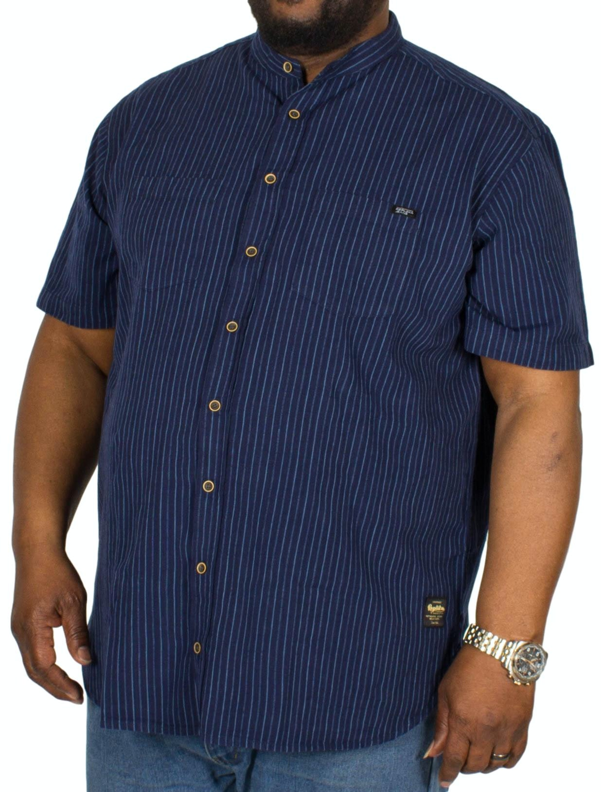 Replika Striped Short Sleeve Shirt Navy