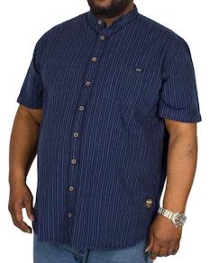 Replika Striped Short Sleeve Shirt Navy