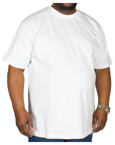 Bigdude Plain Crew Neck T-Shirt White