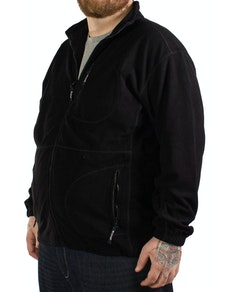 Cotton Valley Rib Polar Fleece Black