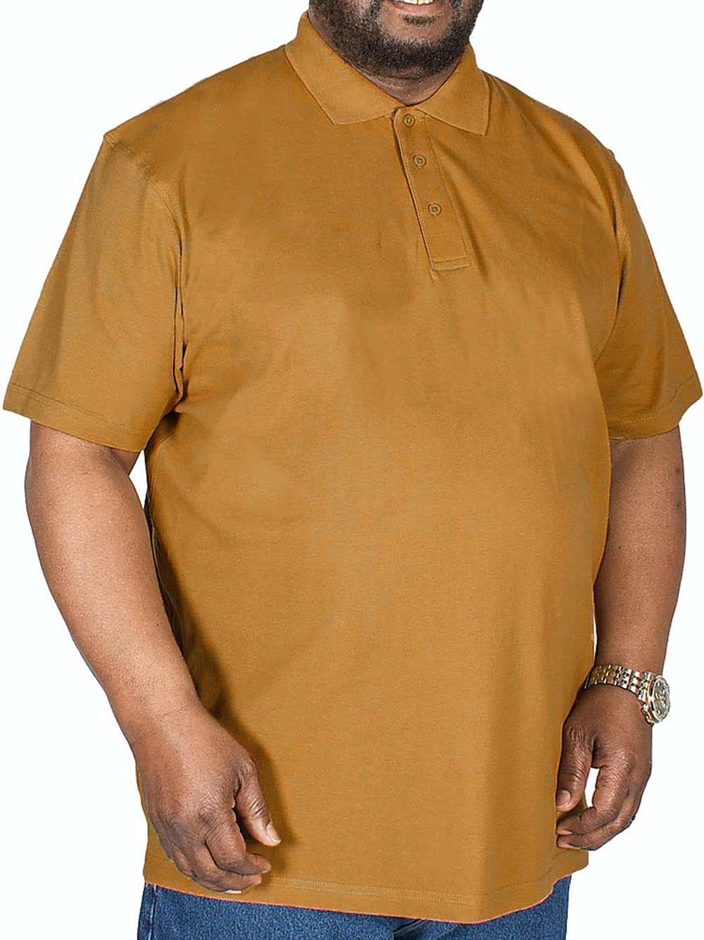 Bigdude Plain Polo Shirt Brown