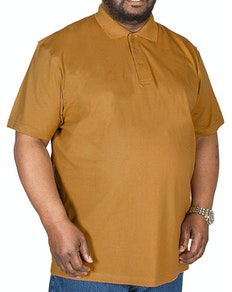 Bigdude Plain Polo Shirt Brown