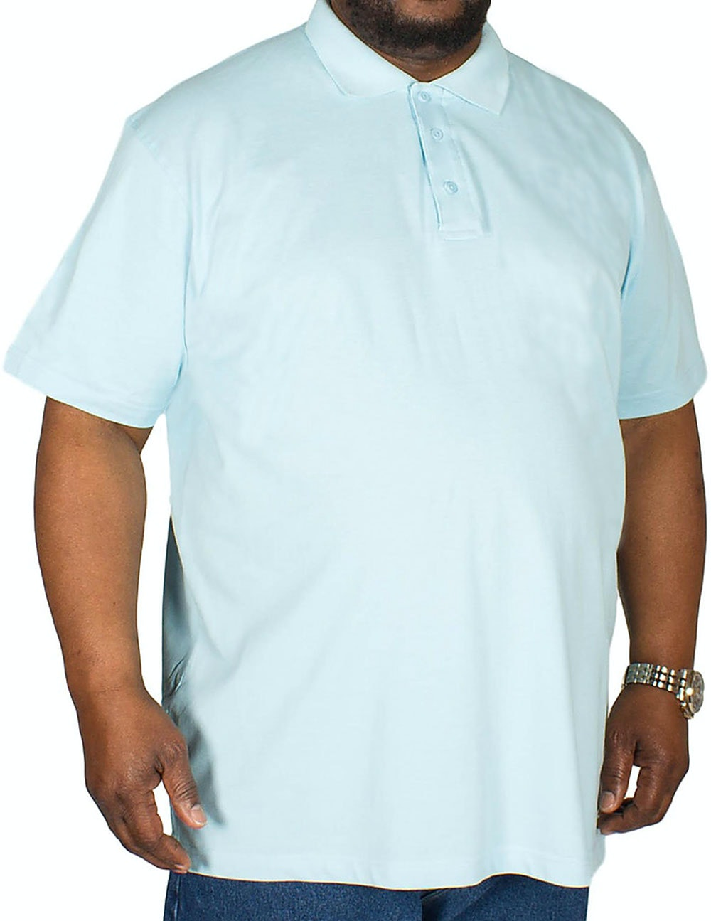 Bigdude Plain Polo Shirt Light Blue Tall