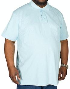 Bigdude Plain Polo Shirt Light Blue Tall