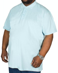 Bigdude Plain Polo Shirt Light Blue