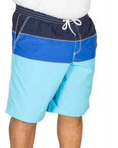 Replika Cut & Sew Swim Shorts Blue/Navy
