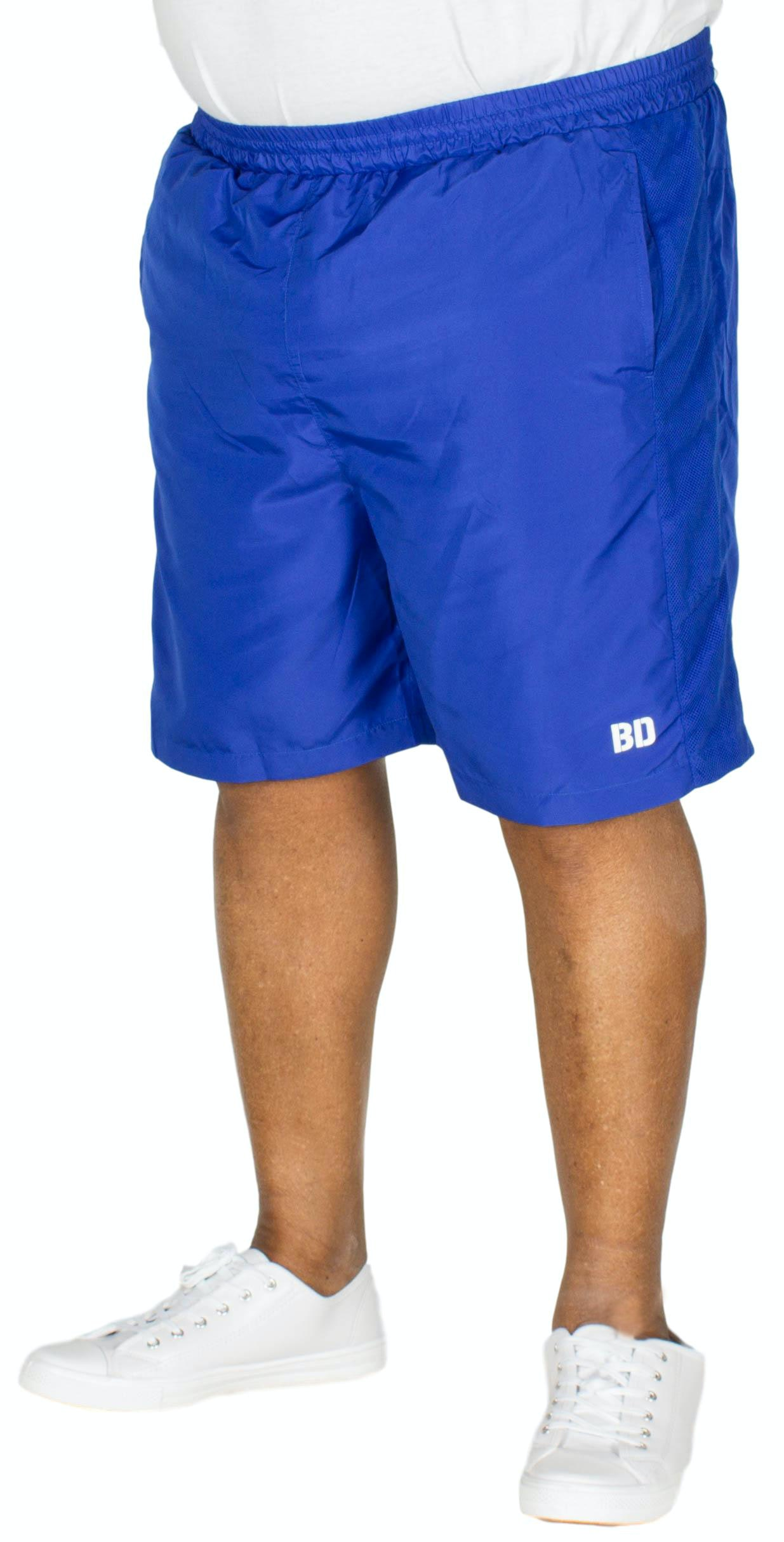 Bigdude Mesh Panel Gym Shorts Royal Blue