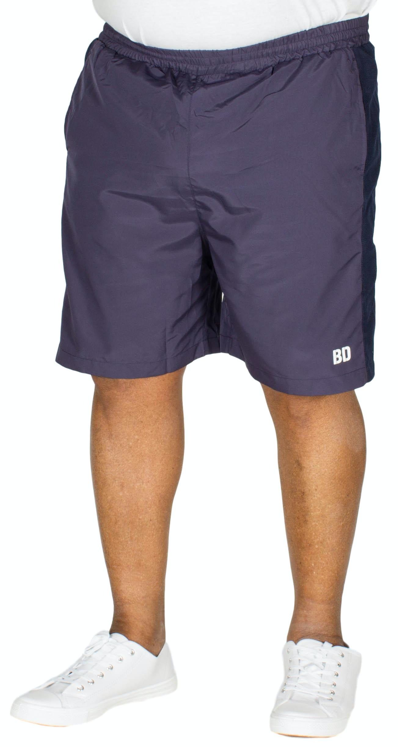 Bigdude Mesh Panel Gym Shorts Navy