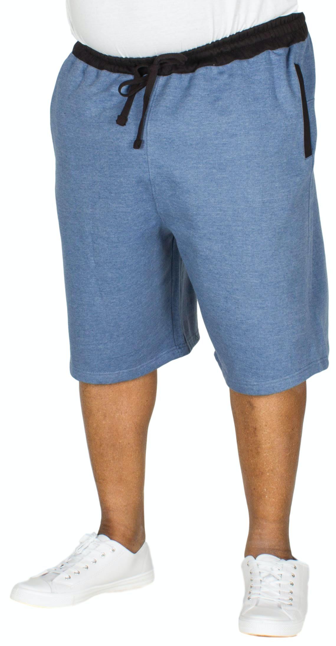 Bigdude Contrast Sweat Shorts Denim Marl