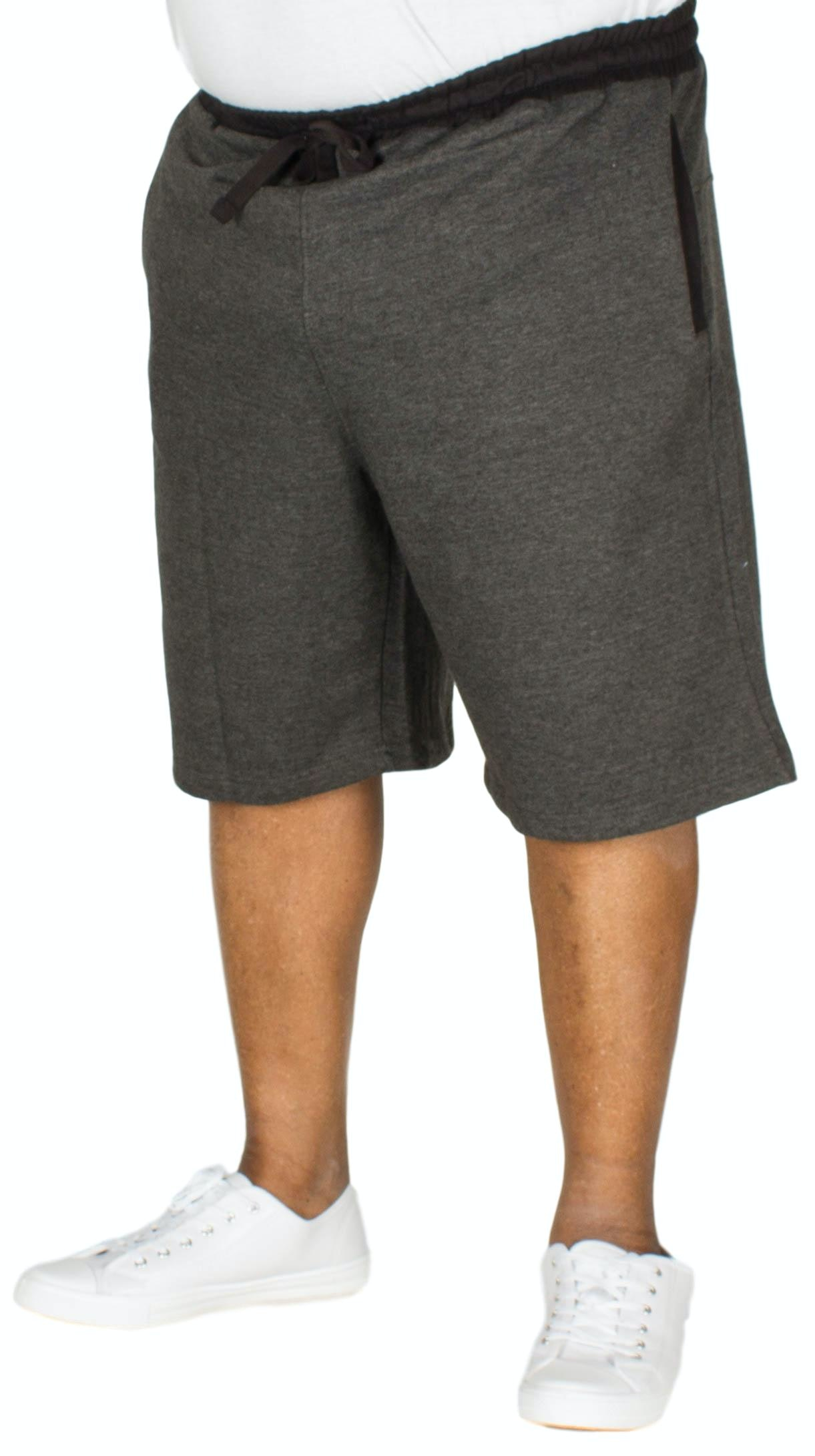 Bigdude Contrast Sweat Shorts Charcoal Marl
