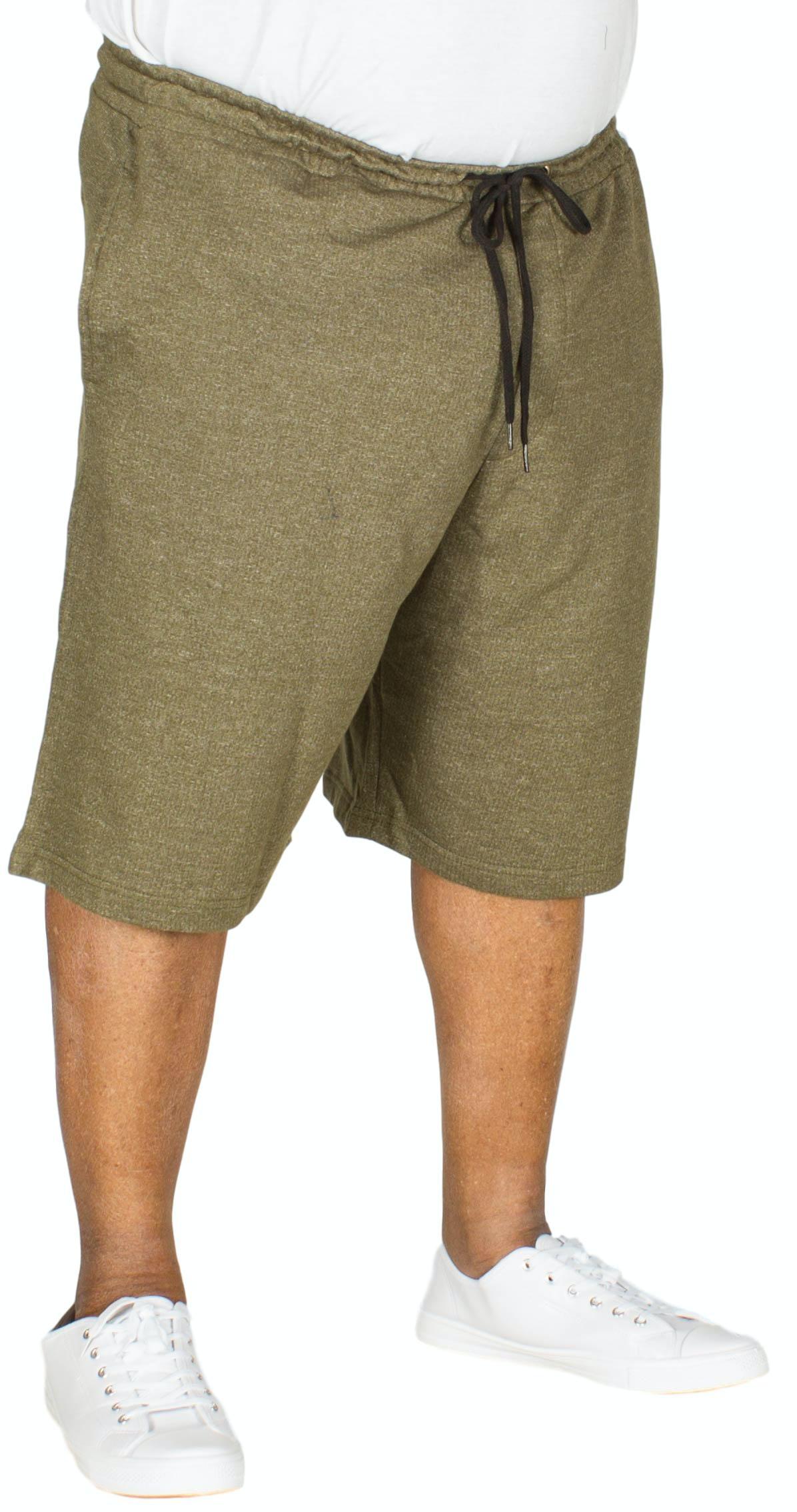 Bigdude Marl Jogger Shorts Olive