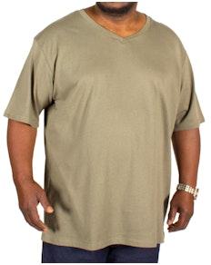 D555 Premium V -Neck T-Shirt Khaki