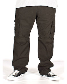KAM Zip Off Cargo Trousers Black