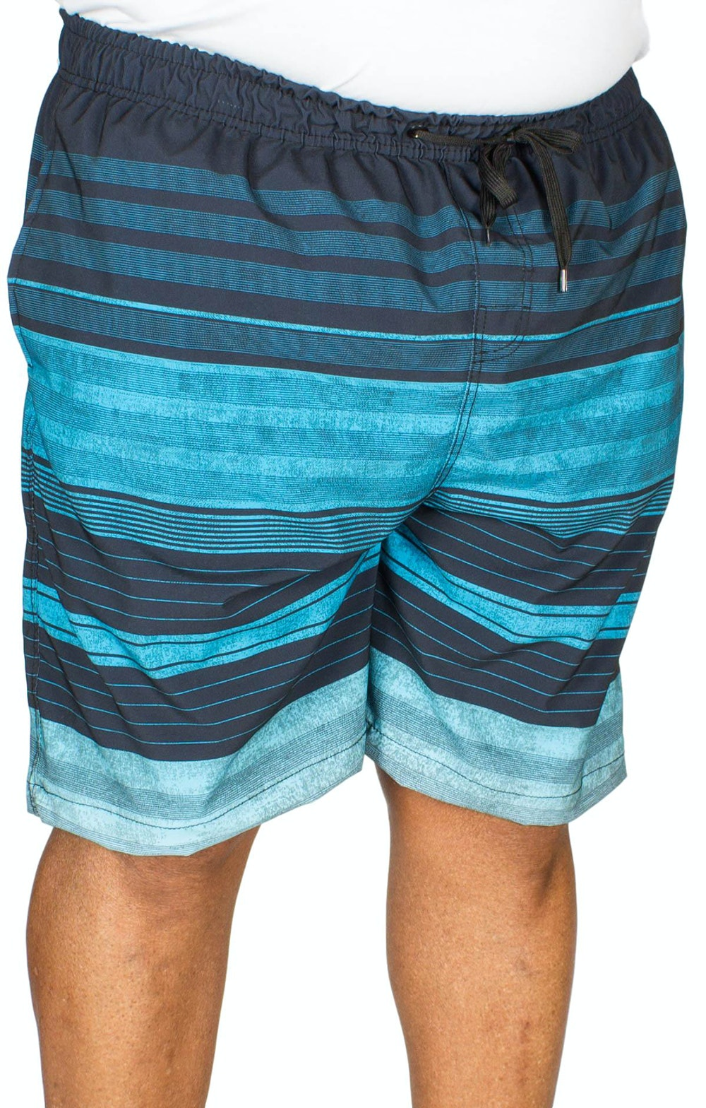 Ed Baxter Reduit Striped Swim Shorts Navy Mixed