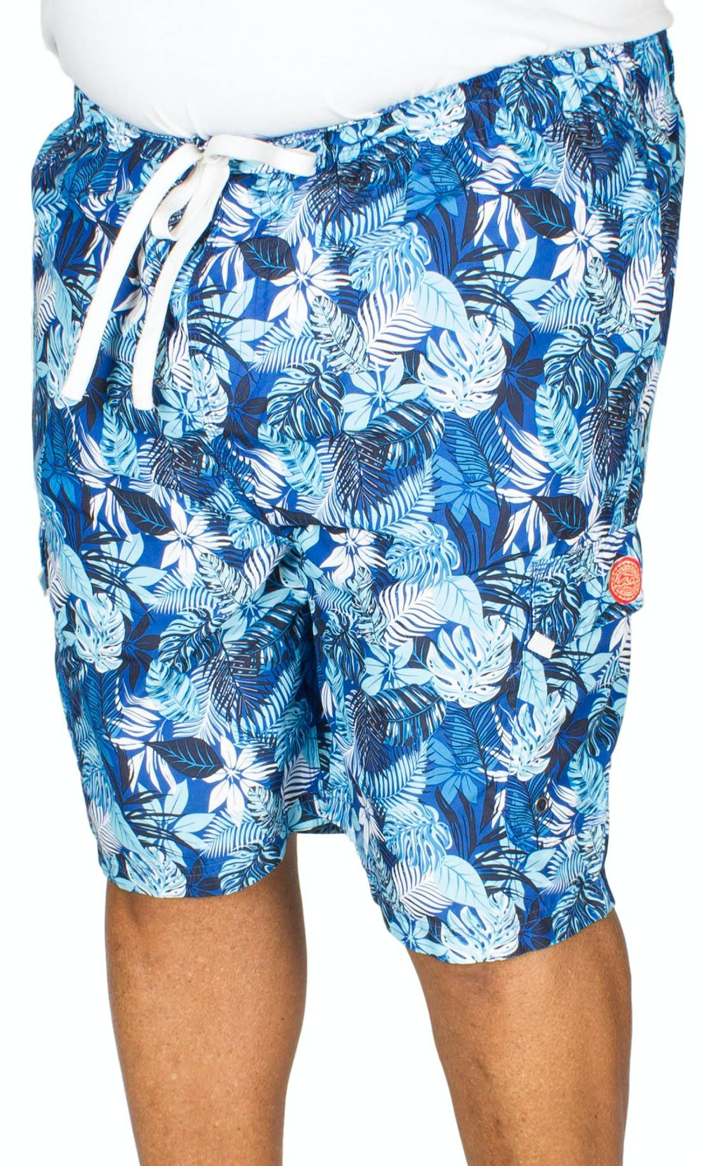 KAM Floral Print Swim Shorts Blue