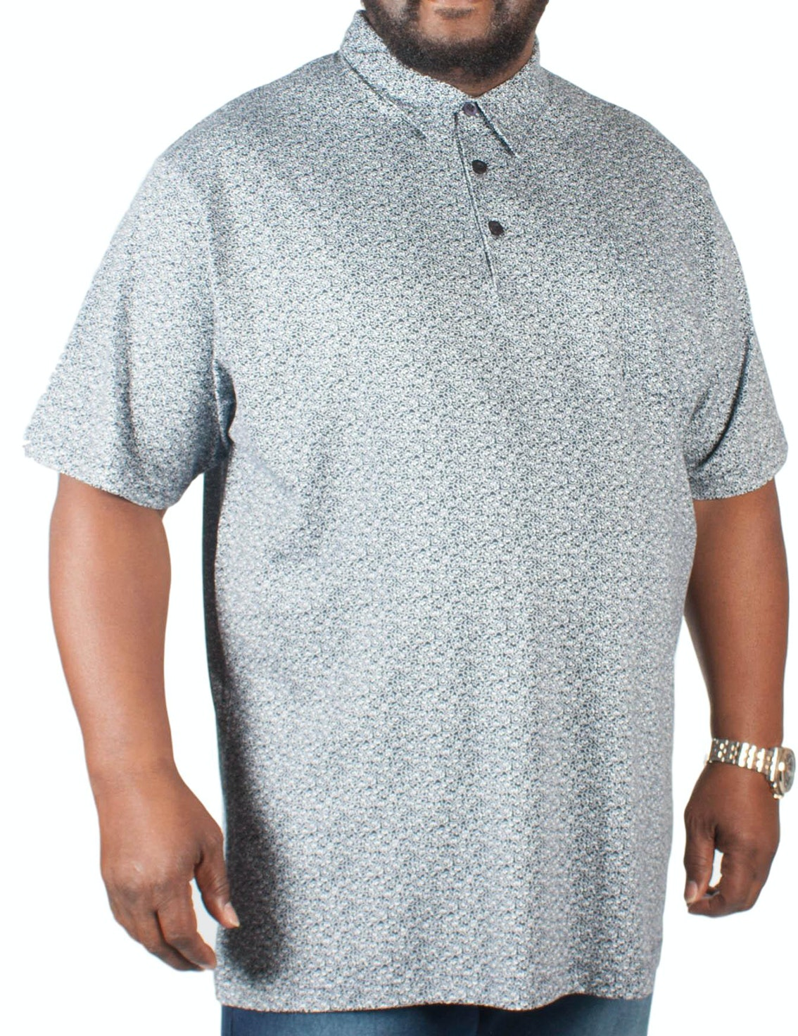 Espionage Speckled Print Polo Shirt