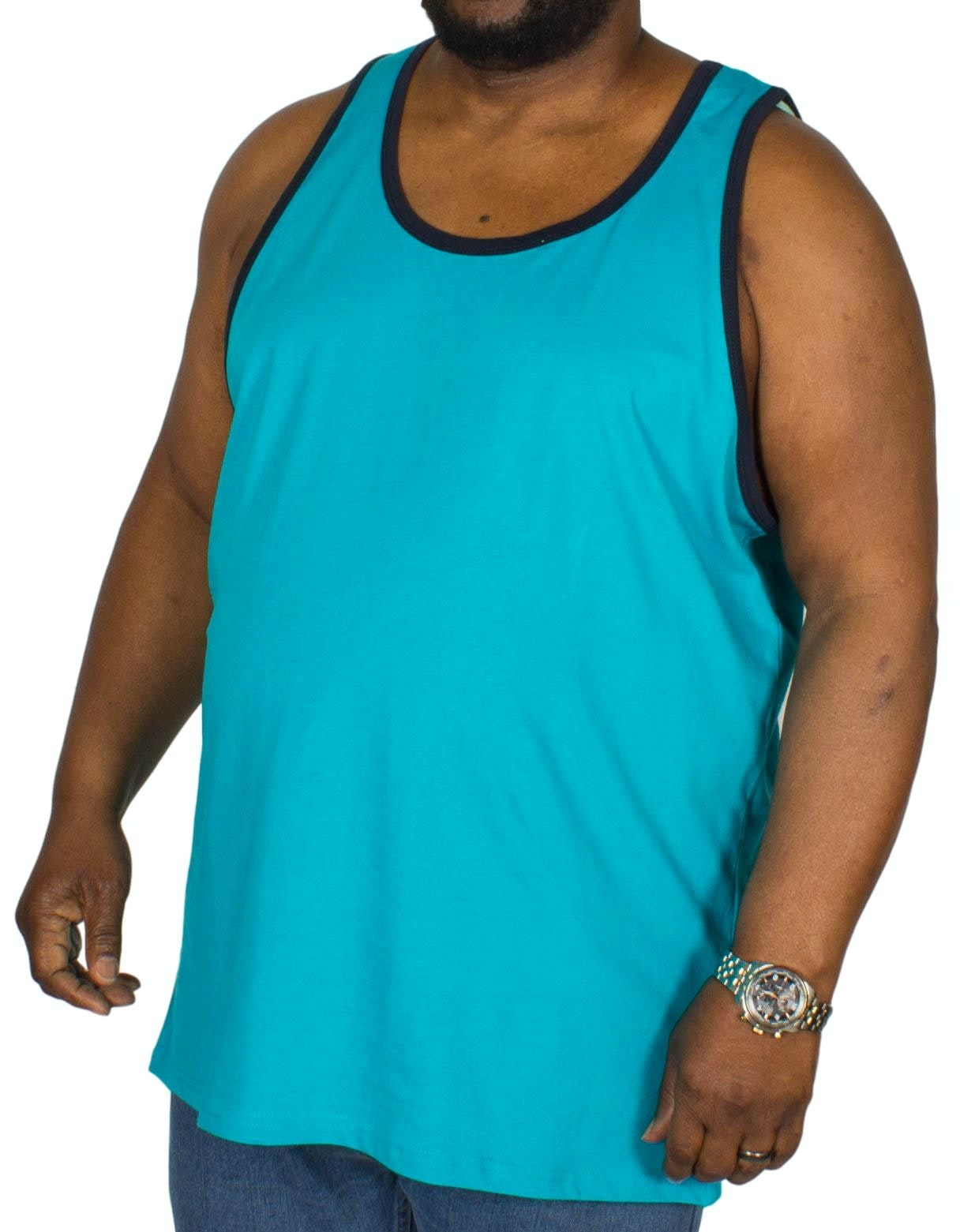 KAM Plain Ringer Vest Breeze Blue