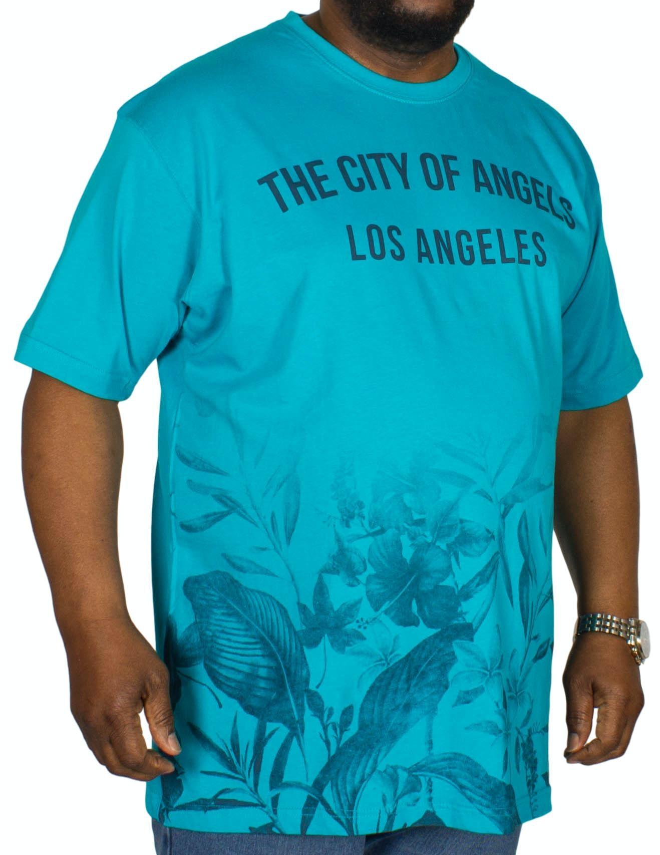 KAM LA Ombre Print T-Shirt Sea Blue