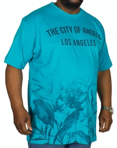 KAM LA Ombre Print T-Shirt Sea Blue