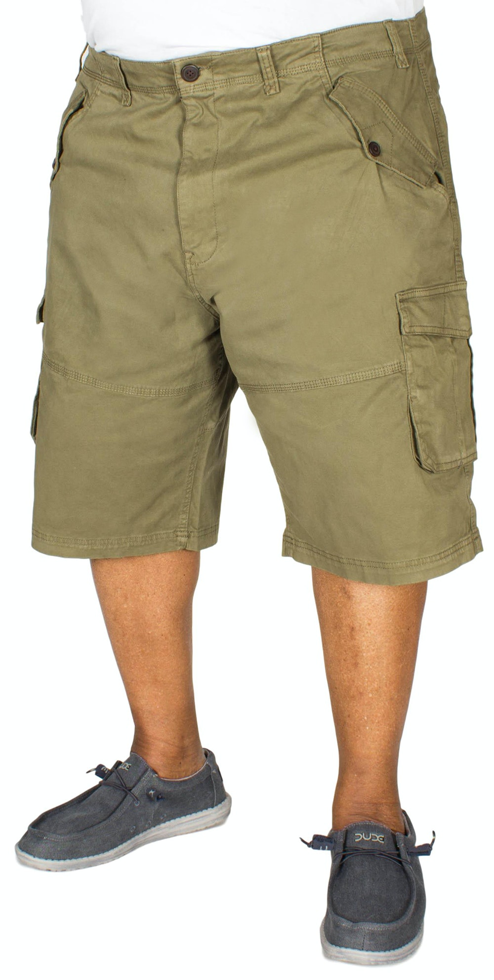 KAM Stretch Cargo Shorts Khaki