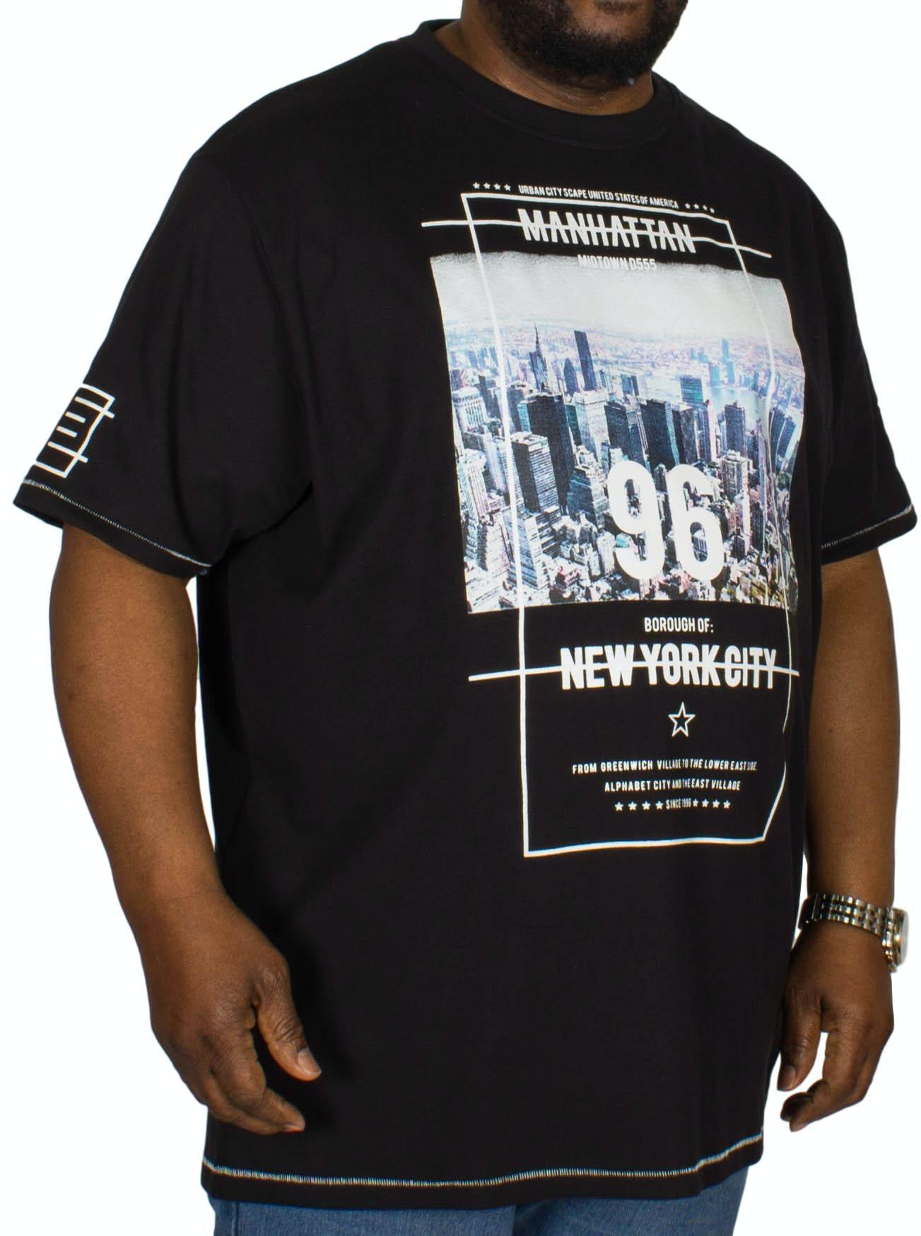 D555 Ethan NYC Print T-Shirt Off Black
