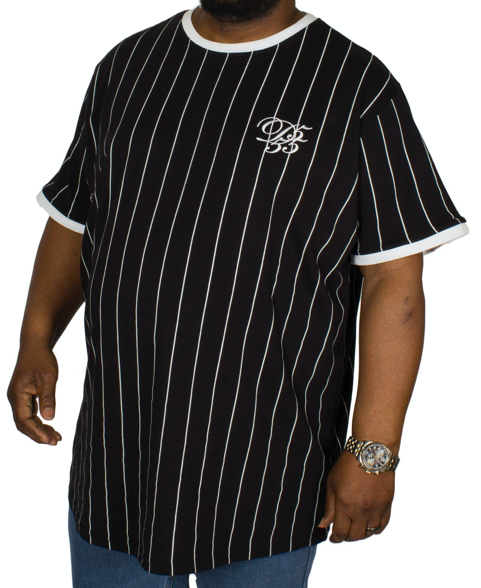 D555 Chatham Stripe T-Shirt Black