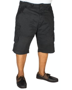 KAM Stretch Cargo Shorts Black