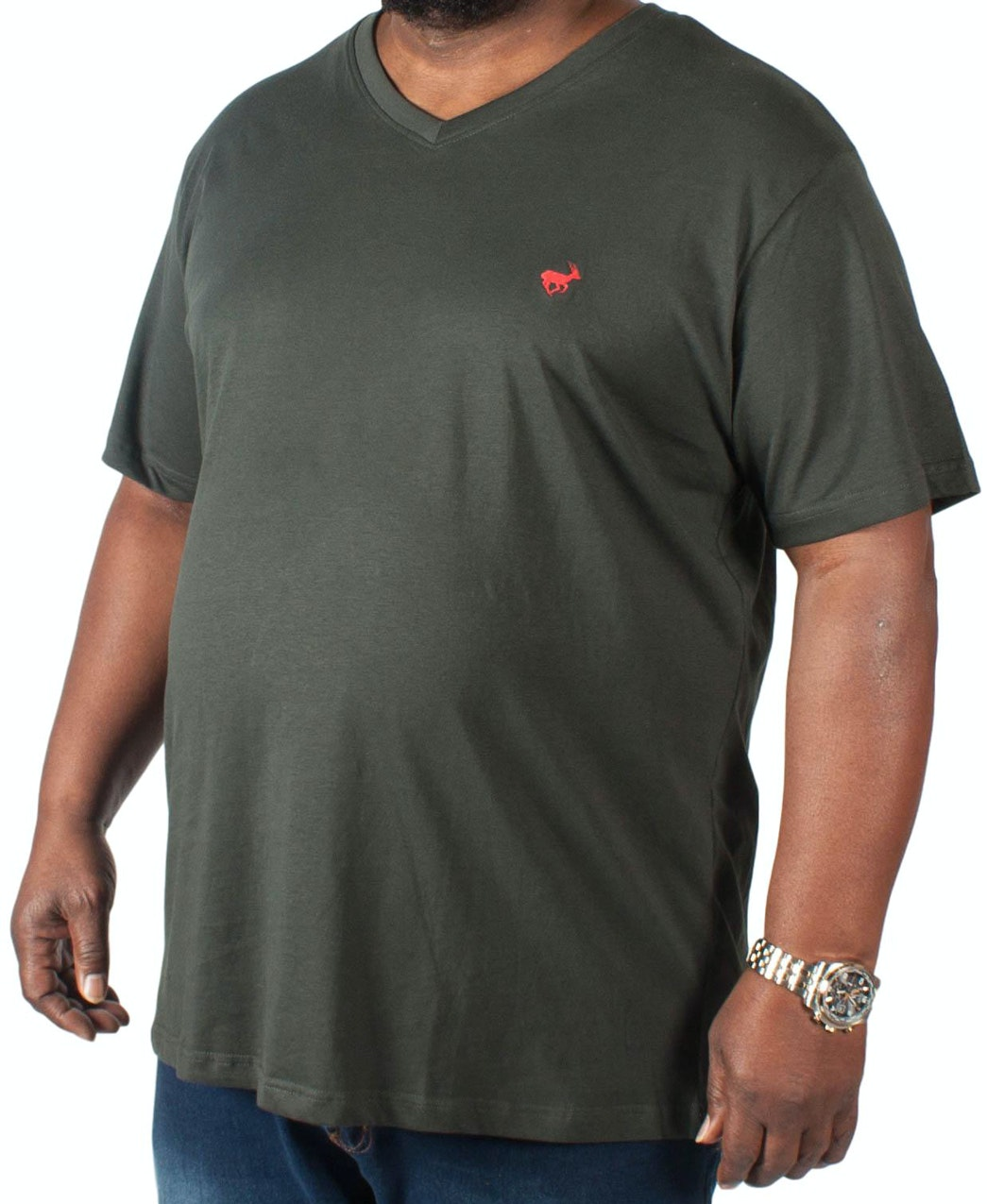 Bigdude Signature V-Neck T-Shirt Black