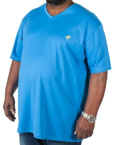 Bigdude Signature V-Neck T-Shirt Blue