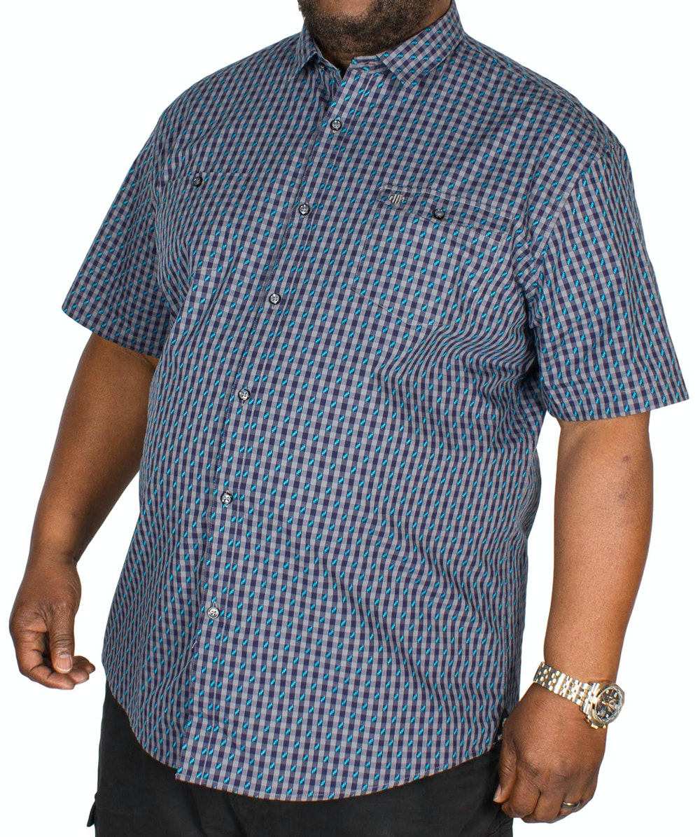 Mish Mash Cosby Short Sleeve Shirt Grey & Navy
