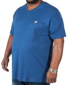 Bigdude Signature V-Neck T-Shirt Navy Tall