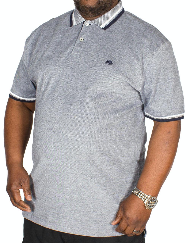 Raging Bull Birdseye Pique Polo Shirt Navy