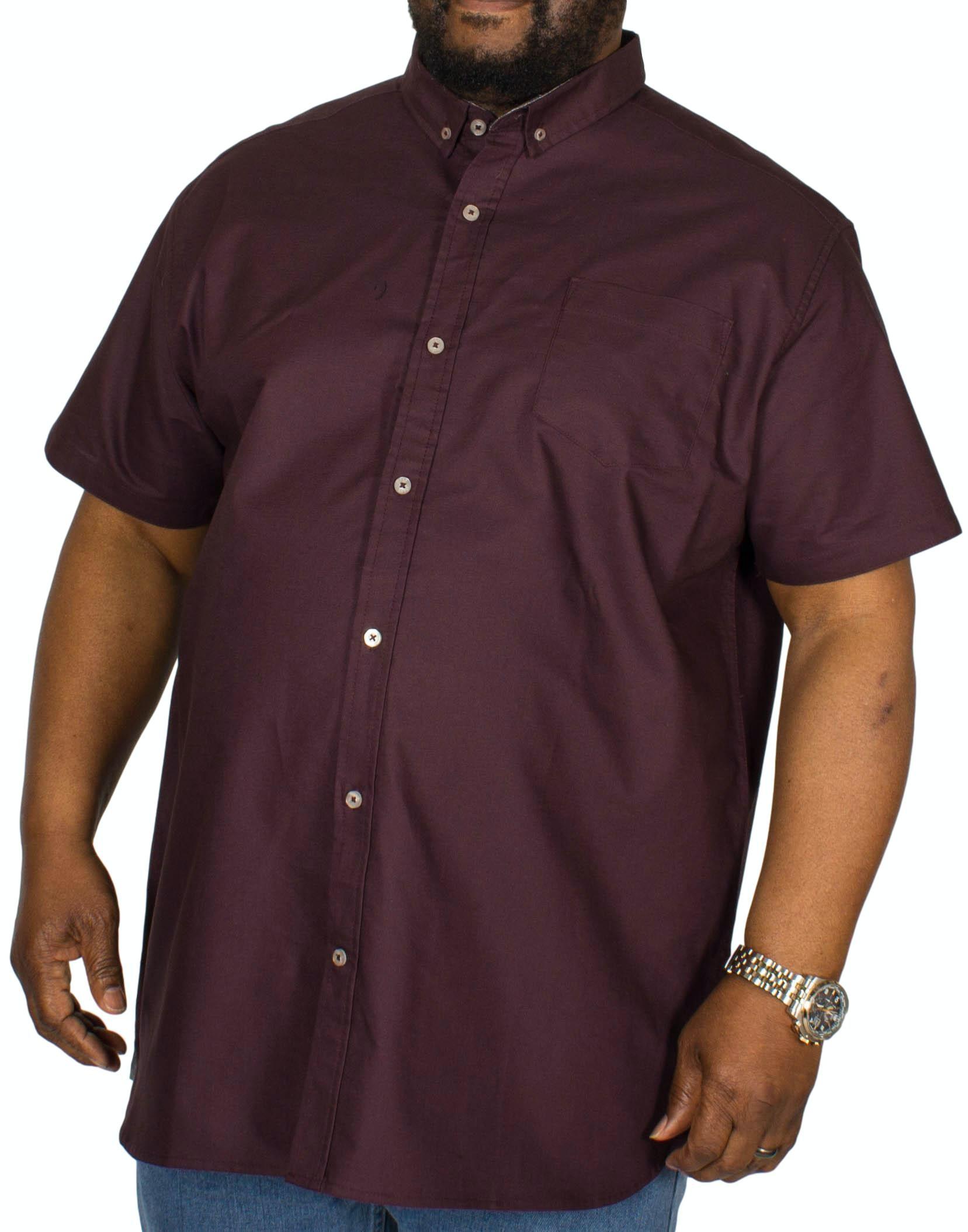 D555 Kevin Short Sleeve Oxford Shirt Plum