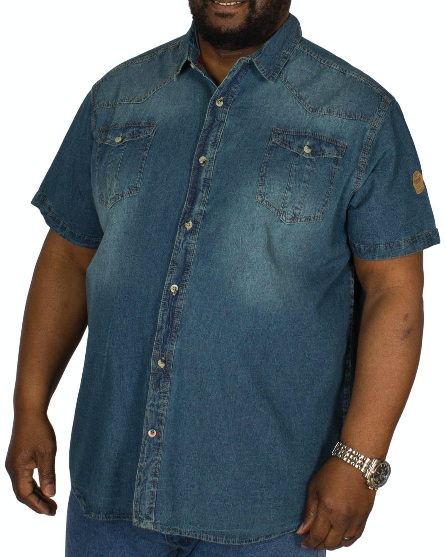 D555 Mike Twin Pocket Dark Denim Shirt