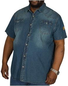 9d20c54bcf7 D555 Mike Twin Pocket Dark Denim Shirt