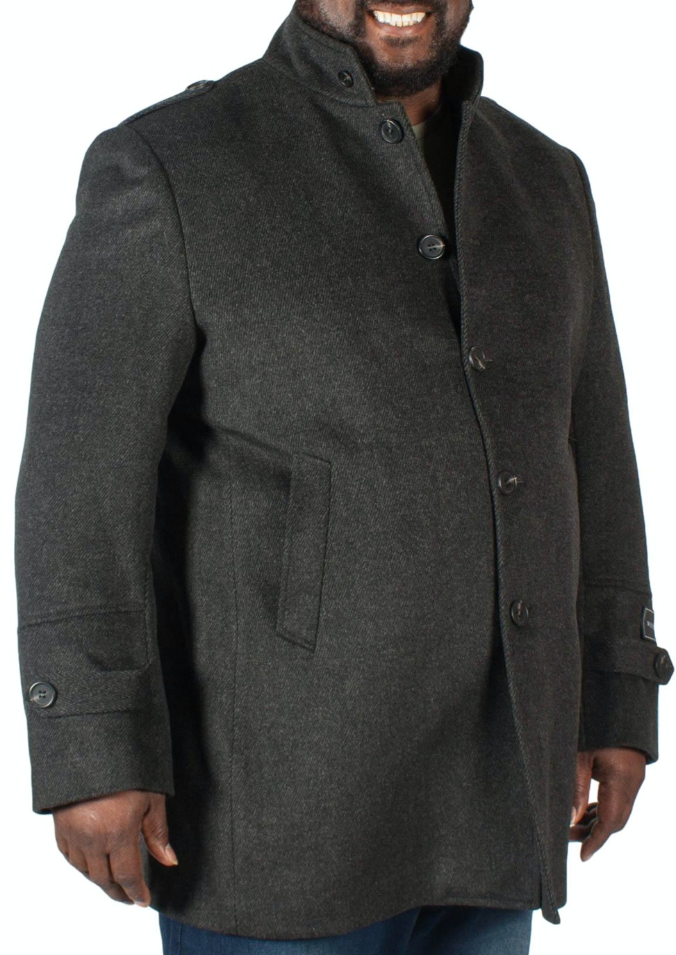 Skopes Grey Twill Overcoat