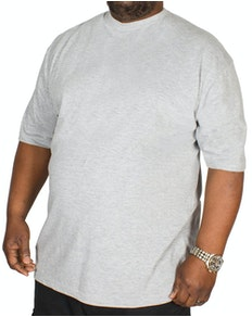 Carabou Plain Crew Neck T-Shirt Grey
