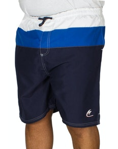 Metaphor Contrast Panel Swim Shorts Navy/Royal