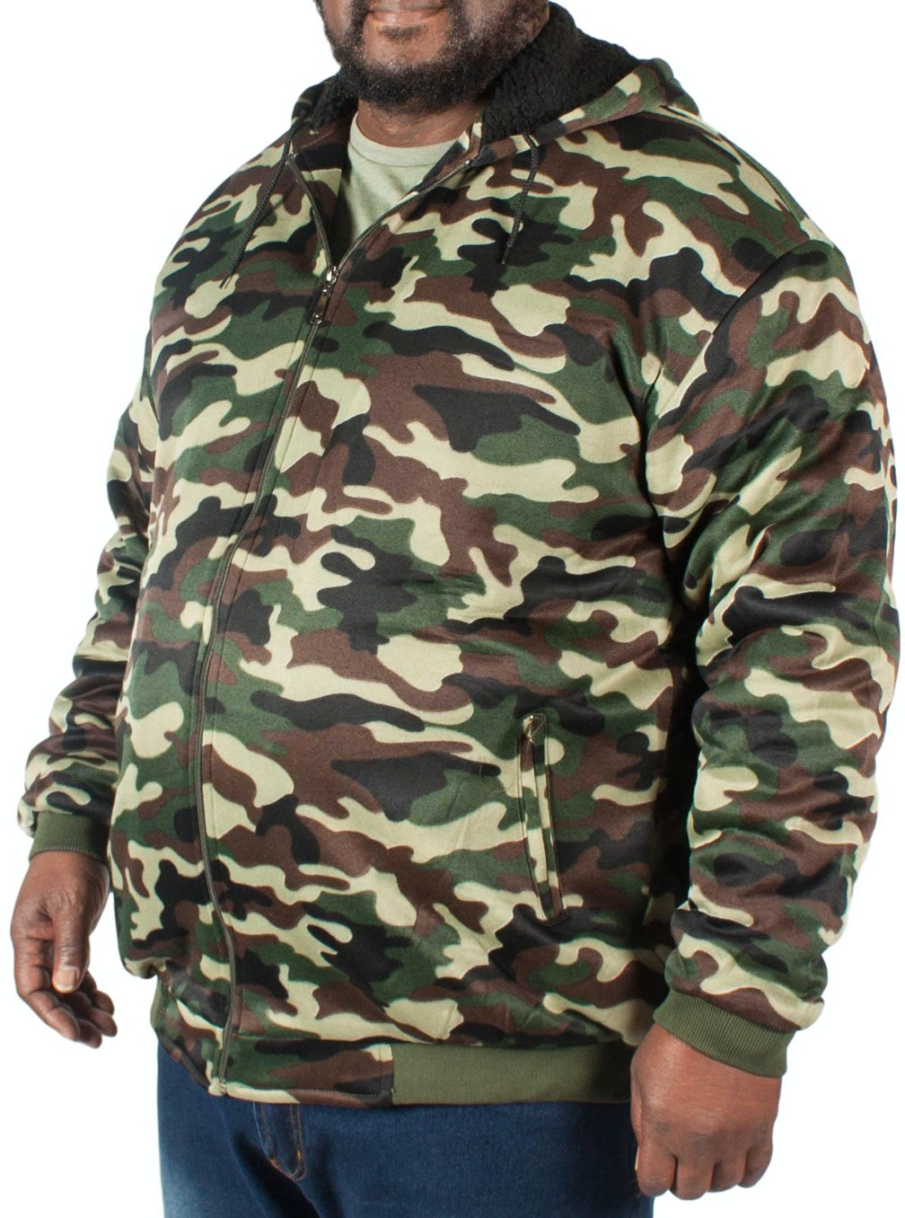 Fitzgerald Lined Camo Hoody Green