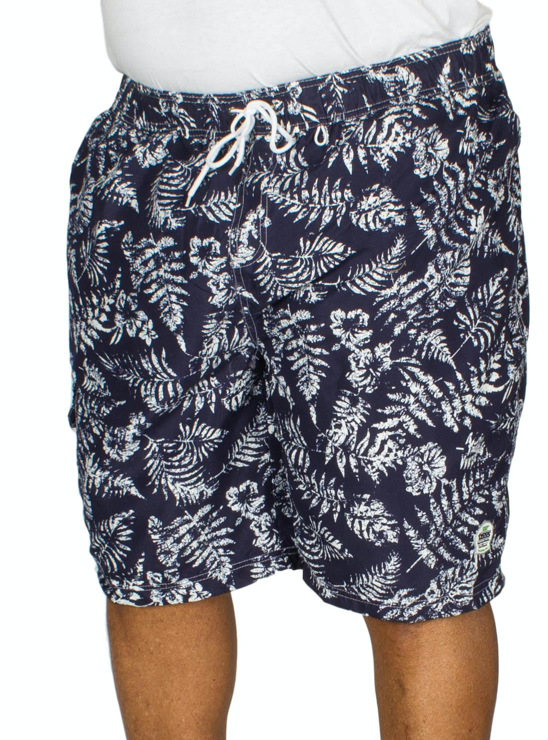 D555 Florida Floral Print Swim Shorts Navy