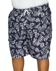 D555 Florida Floral Print Swim Shorts Navy