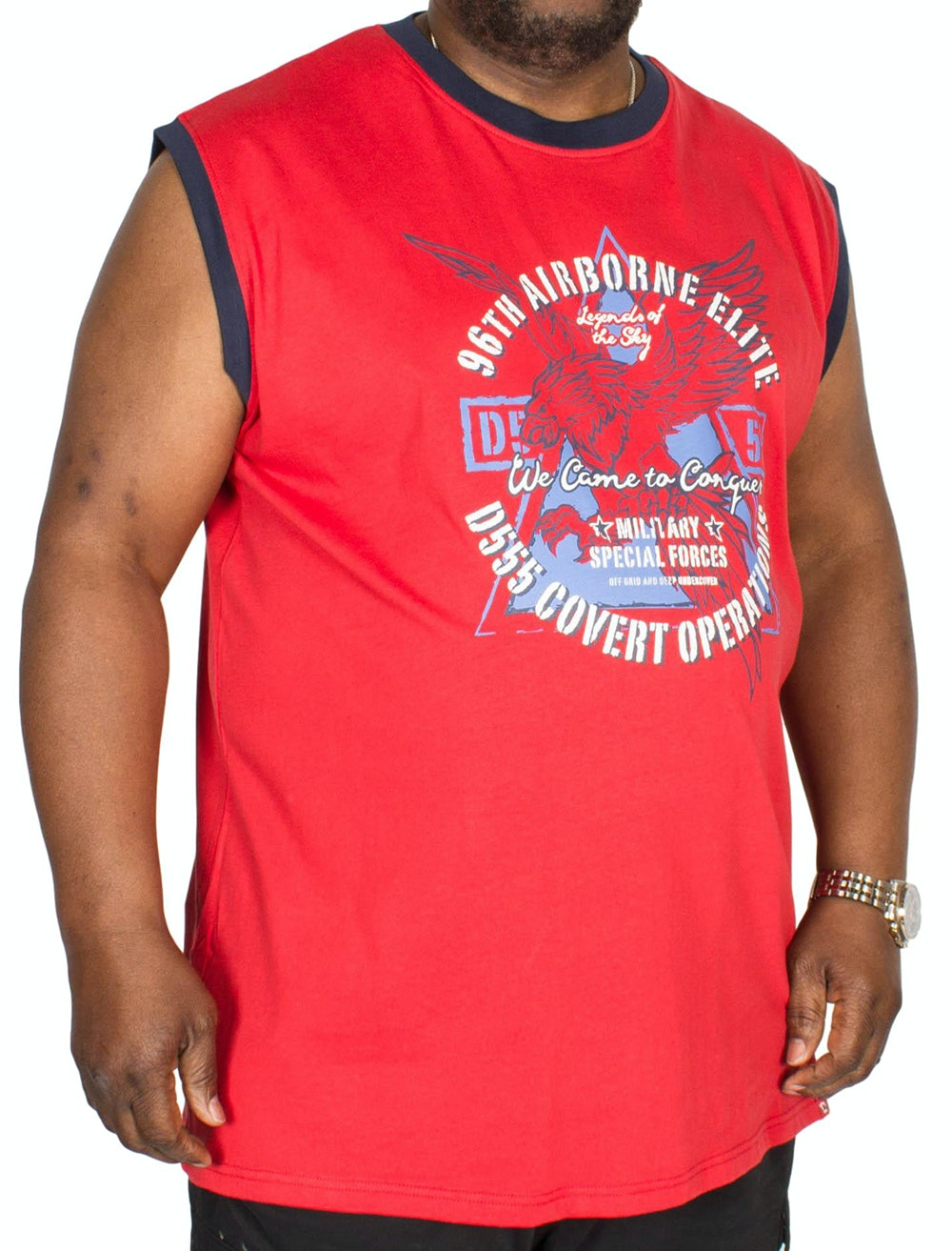 D555 Toledo Airborne Sleeveless T-Shirt Red
