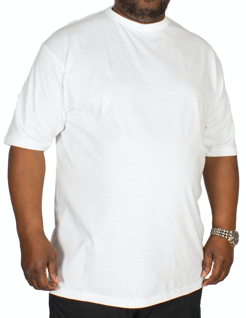 Carabou Plain Crew Neck T-Shirt White