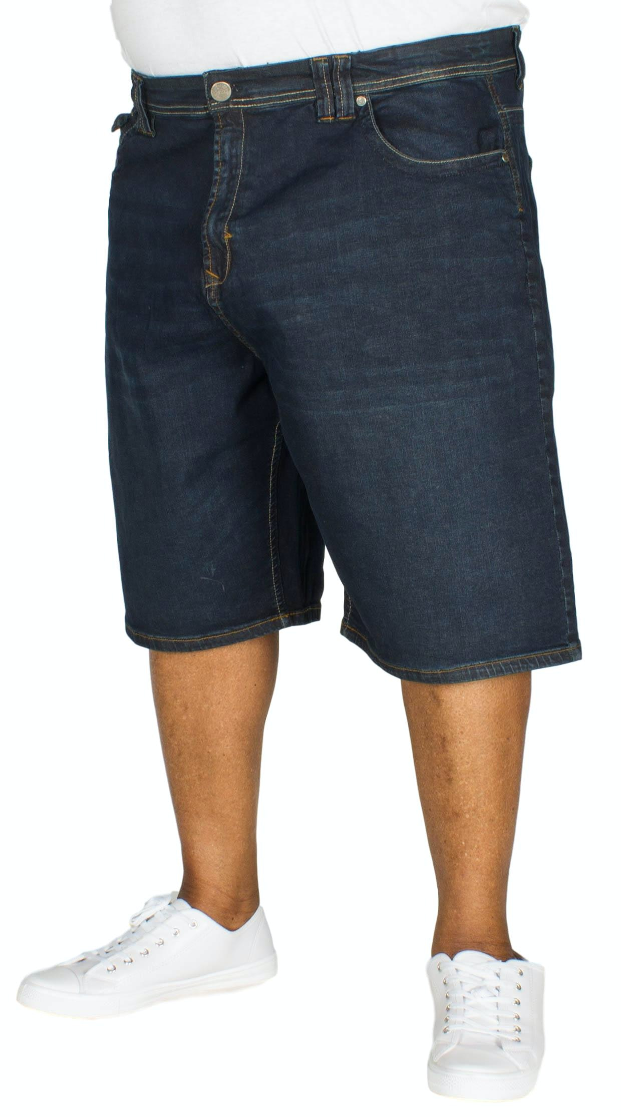 KAM Vincent Stretch Denim Shorts Dark Wash