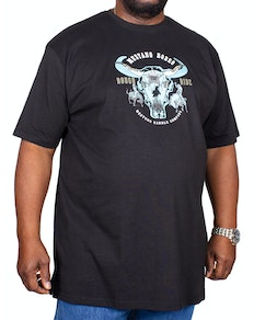 Metaphor Mustang Rodeo Print T-Shirt Black
