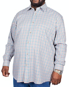 Cotton Valley County Check Long Sleeve Shirt Blue