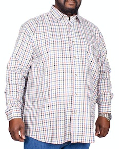 Cotton Valley County Check Long Sleeve Shirt Cream
